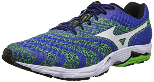 Mizuno Wave Sayonara 2 Synthétique Chaussure de Course Blue-Green-White-Black