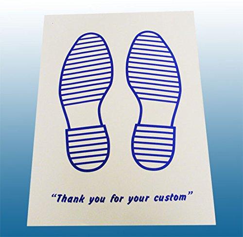 Einweg, Papier weiß Auto Fußmatten bedruckt mit Blau Füße 250Pck (Valet Fuß)
