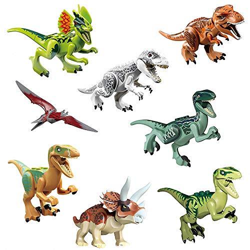 LINYOTEC Dinosaurier, 12cm Dinosaurs 8 Pack Set Bauklötze Kinder Spielzeug Building Toy, Kinder, Geburtstagsgeschenk