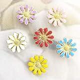Dekorative Fingernägel, bunte Blumen, für Wand, Whiteboard, Korkboard, Fotowand und Memo, 30 Stück