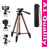 MoohMaya Camera Tripod with Rocker Arm for Canon Nikon Sony DSLR Camera