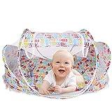 Baby Travel Bett, grazechoice Portable Baby Reisebett Bett, zusammenklappbar Bettchen, Babybetten Neugeborene faltbar Krippe mit Moskitonetz, f�r 0-24Monate Baby (Eule Muster)