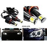 2x LED COB Luffy BMW Angel Eyes halo anillo de luz H8Bombilla E90E91E92E93E82E87E60E70X5E71x6E89E8440W), color blanco