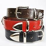 W70-B Hundehalsband Leder - Braun - 70 cm