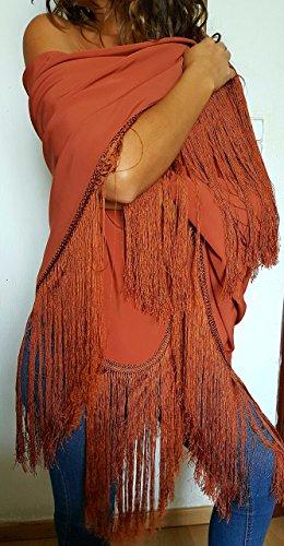 Mantoncillo de flamenca en color teja.