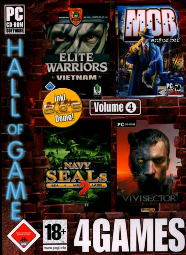 Preisvergleich Produktbild 4Games Vol. 4 (Elite Warriors Vietnam / Mob Enforcer / Navy Seals 2 / Vivisector)