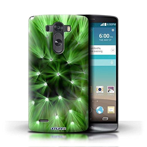 Kobalt® Imprimé Etui / Coque pour LG G3/D850/D855 / Rouge conception / Série Couleur/Lumière Fleur Vert