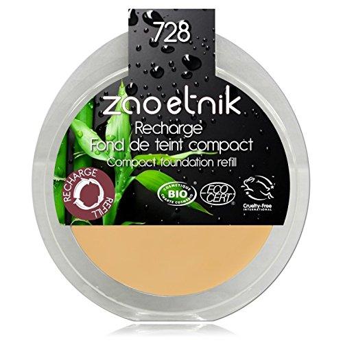 ZAO REFILL Compact Foundation 728 helles Ocker hell-beige-gelb Kompakt-Makeup-Nachfüller (Grundierung) (bio,vegan, Naturkosmetik) 111728 -