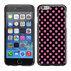 Case699 / Handytasche Case Etui Hülle / Dot Pink Purple Pattern Wallpaper / Apple iPhone 6
