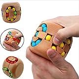 URToys Educational Brain Teaser Toy Intelligent China Kongming Lock Hamburg Magic Cube Jigsaw Puzzle Beech Wood Toys For Kids Birthday Christmas Gift