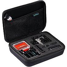 Bolsa de Transporte Luxebell Estuche Portátil Contra Golpes con Cremallera Impermeable para GoPro Hero 2 3 3+ Hero 4, Accesorios de Gopro y Camara SJ4000 SJ5000 (225 x 173 x 71 mm)
