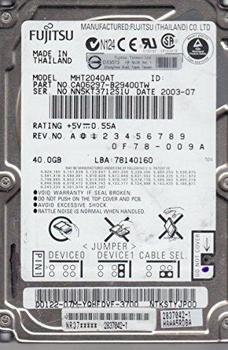 Fujitsu MHT2040AT Interne Festplatte 2.5 Zoll 40 GB Ultra-ATA/100 - Interne Festplatten (2.5 Zoll, 40 GB, 4200 RPM) -