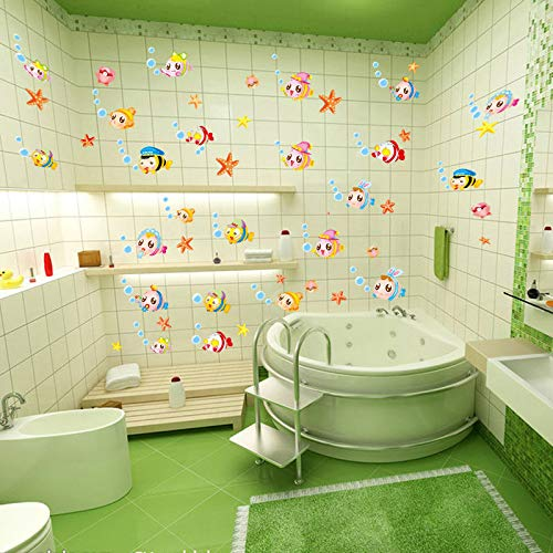(MEIWALL Klassenzimmer Baby Fisch Baby Wandsticker Wandaufkleber für Kinder Kinderzimmer Schlafzimmer Wohnzimmer Küche Kinderzimmer Wand Kunst Dekor Aufkleber)