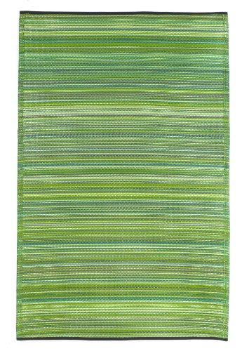 Fab Hab - Cancun - Alfombra para Exterior e Interior - Verde - (150 cm x 240 cm)