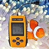 Cercatori dei pesci,PIMITI 100M/328ft fish finder profondita' cercatore dei pesci portatile LCD Sonar Sensor Allarme trasduttore cercatore dei pesci