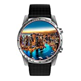 KW99 Smartwatch Android 5.1 3G WIFI Smartwatch Intelligente Uhr Handy mit SIM Karte Slot Bluetooth GPS Anrufbenachrichtigung Schrittzähler Fitness Tracker Kompatibel mit IOS Iphone Andriod (Silber)
