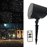 LED-Weihnachtsprojektor-Licht, Schnee-Fallende Nacht Beleuchtet Weiße Schneeflocke, Die Drehenden Schneefall-Scheinwerfer, Dekorative Landschaftbeleuchtung Im Freien Für Hochzeit Neues