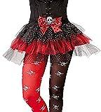 Karneval-Klamotten' Kostüm Tüllrock Piratenrock Piratenkostüm Piratin Totenkopf Mädchen Karneval Halloween Kinderkostüm One Size