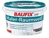 Baufix Wand & Deckenfarbe Maler-Raumweiß Seidenmatt 11 Liter