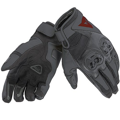 Dainese 1815688_691_l guanti unisex, nero/rosso, large