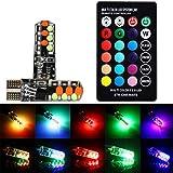 HKFV RGB T10-COB Glühbirne Blitzlicht Atmosphäre Licht T10 RGB LED COB Bunter Strobe Breite Lampe 2xLED-Licht