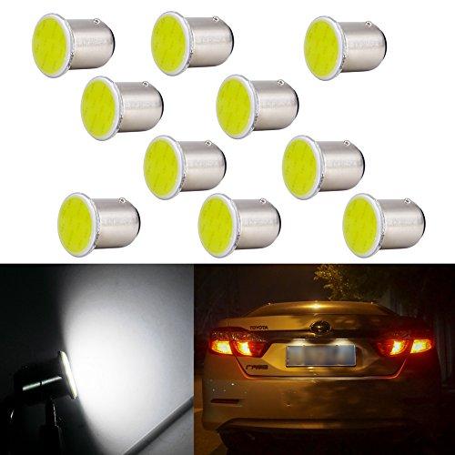 1157 Feu de frein de voiture Ampoule LED Blanc pour le signal de virage arrière Arrêt extérieur Arrêt de secours Stationnement Indicateur de marqueur arrière arrière BAY15D P21 / 5W 7528 2057 3496
