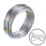 AYE 3mm Filo di Alluminio per Gioielli Artigianali Che bordano Floreale Filo Metallico - Argento (10m)