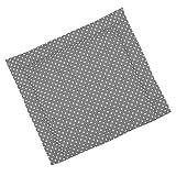 Sugarapple Wickelauflage 85 x 75 cm ca. 3 cm dick mit Oberstoff aus 100% Baumwolle, innen weich und warm wattiert, doppelt abgesteppte Nähte und machinenwaschbar, grau Punkte weiß