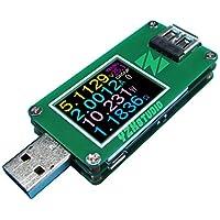 YZXstudio 1270USB Power Meter 0,0001V 0,0001a 4–24V da Kaayee a tensione di prova corrente, ah/WH, D +/D- riconoscimento, Cavo Resistenza con firmware YZXstudio V3.0.