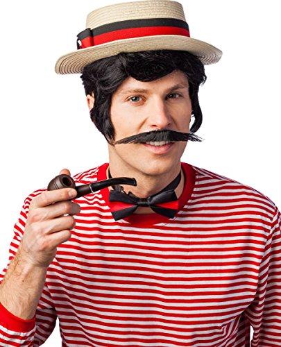 Kostüm Zubehör Venedig Gondoliere Hut Fliege Pfeife (Hut Gondoliere Kostüm)
