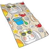 Not applicable Meerschweinchen am Strand Gesicht Handtuch, Handtuch, Küchentücher-Dish 3D Design Pattern Handtuch, Handtücher für die Küche, Reinigung, Kochen