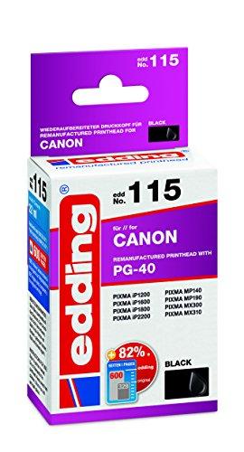 edding 18-115 Druckerpatrone EDD-115, Ersetzt: Canon PG-40, Einzelpatrone, schwarz