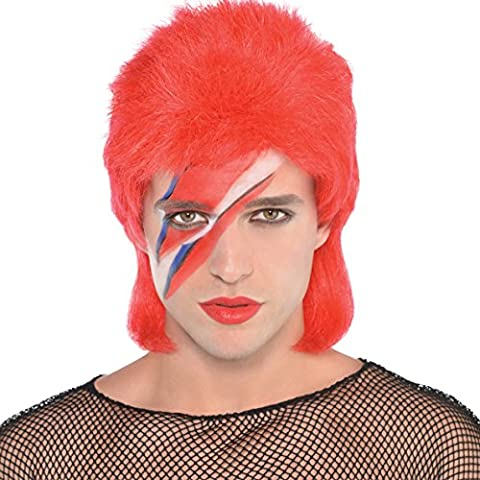 80s Punk Rocker - 80s Popstar Wig Mens Fancy Dress Ziggy