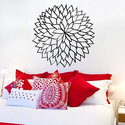 BailongXiao 40 Farbe Vinyl wandaufkleber floral kontur blattmuster abnehmbare wandtattoo Salon Wohnzimmer Schlafzimmer wanddekoration 57x57 cm