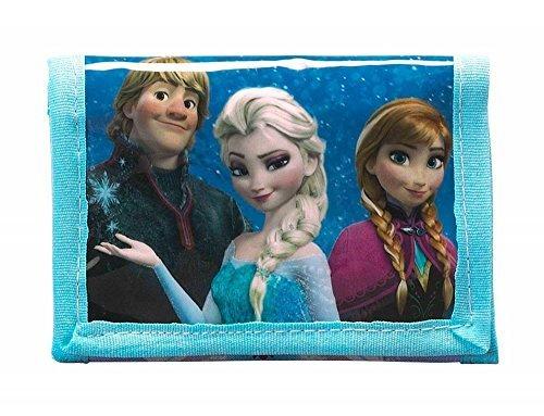 Disney Frozen - Die Eiskönigin, Elsa Anna Olaf, Geldbeutel Portemonnaie (S036), blau/weiß (615), 12,5 x 9,5 x 1,4 cm (Frozen Olaf-geldbörse)