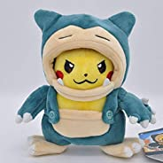 Stuffed toy 20cm Snorlax Cloak Pikaqiu Plush Figures Toy Pokemon Anime Stuffed Soft Dolls Pillow Children Acco