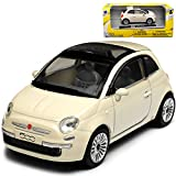 New Ray FIAT 500 Nuova Weiss Creme Beige Coupe Ab 2007 1/43 Modell Auto mit individiuellem...