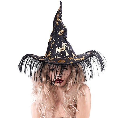 Rabbitgoo Halloween Hexenhut Party Cosplay Kostüm Zubehör für Karneval, Weihnachten, Ostern, Halloween Outdoor Abenteuer (Kostüm Mann Hat Harry)