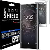 TECHGEAR® Sony Xperia XA2 [ghostSHIELD] Film Protecteur d'Écran en TPU avec Protection Totale de l'Écran, y Compris les Bords Incurvés [Protection 3D Bords Incurvés]