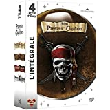 Pirates des Caraïbes - La quadrilogie : La malédiction du Black Pearl + Le secret du coffre maudit + Jusqu'au bout du monde + La fontaine de Jouvence - Coffret 4 DVD