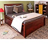 #6: Furniselan King Size Bed with storage (Maple)