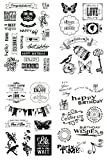 be fancy! Silikonstempel Set - Clear Stamps - Stempel - 47 Motive - transparent