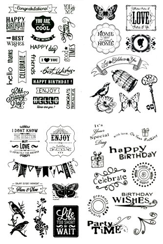 Silikonstempel Set - 47 Motive