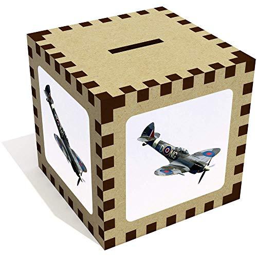 Azeeda 'Aviones Spitfire' Caja Dinero / Hucha MB00002299