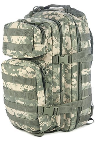 Mil-Tec Military Army Patrol Molle Assault Pack Tactical Combat Rucksack Backpack Bag 20L ACU Digital Camo by Mil-Tec