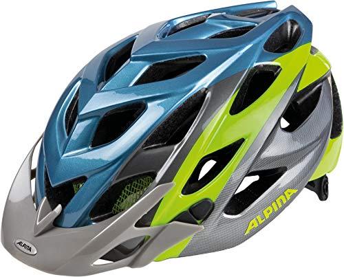 Alpina Erwachsene D-Alto Fahrradhelm, Blue/Metallic/Neon, 52-57 cm