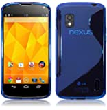 BLUE S LINE STYLE GEL CASE FOR LG GOOGLE NEXUS 4 E960
