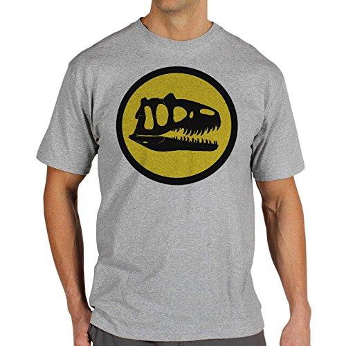 Jurassic-Park-Logo-Yellow-Layer-0.jpg Herren T-Shirt Grau