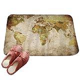 LvRaoo Fußmatte für Außen und Innen Rutschfest Karte gedruckt Teppiche Läufer Fußabtreter Fußabstreifer (# 8, 80 * 50cm)