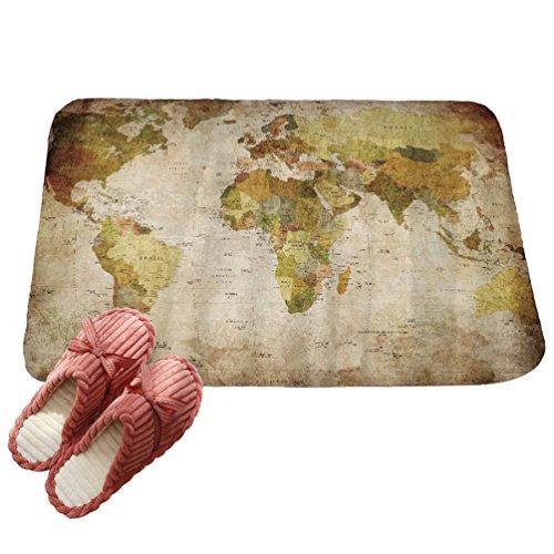 LvRaoo Fußmatte für Außen und Innen Rutschfest Karte gedruckt Teppiche Läufer Fußabtreter Fußabstreifer (# 8, 80*50cm)